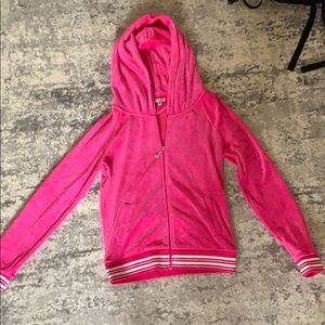 Juicy couture pink velour zip up
